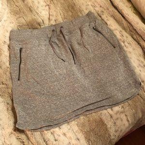 Grey Cotton Skort